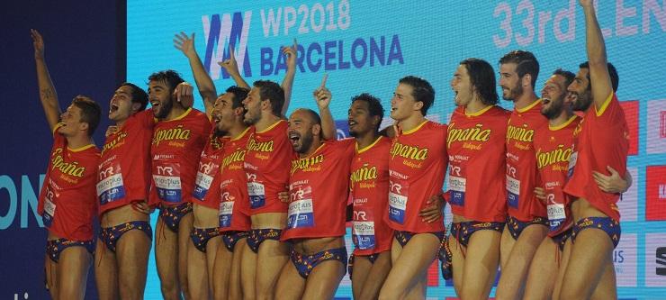 España celebra el subcampeonato. Fuente: rfen