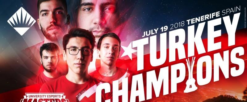 El equipo ganador del University Esports Masters 2018