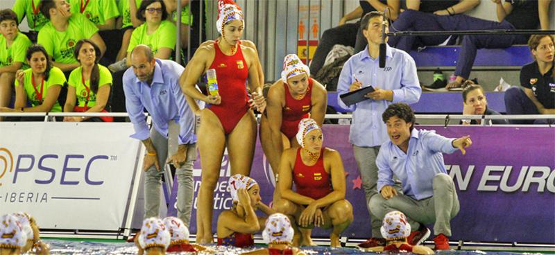 La selección española femenina de waterpolo empieza esta semana el Europeo en Barcelona. Fuente: RFEN