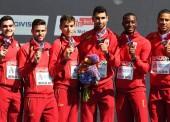 El relevo 4x400 metros español es de bronce