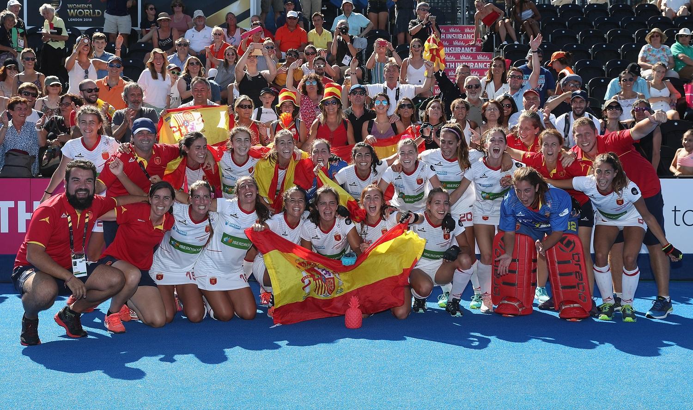 España celebra el bronce. Fuente: rfeh