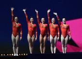 El equipo español femenino de gimnasia artística, séptimo de Europa