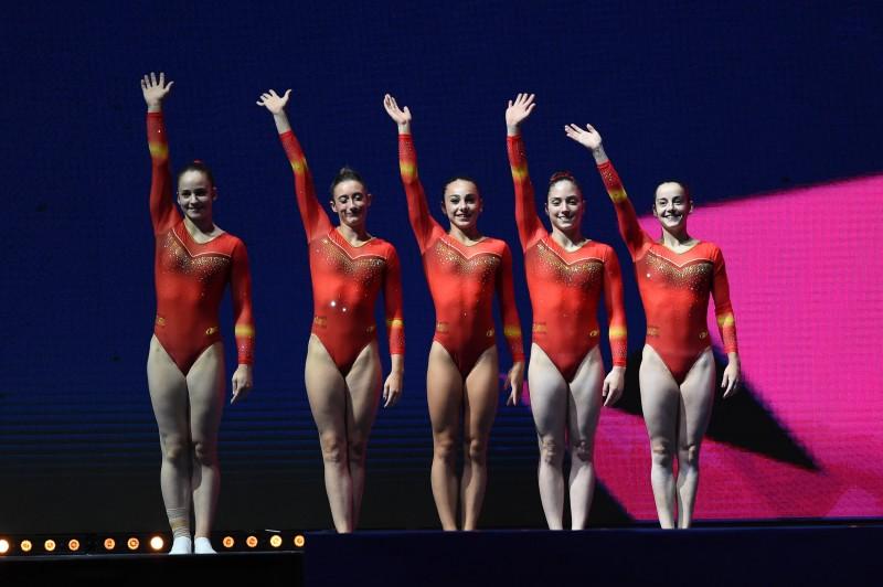 El equipo español de gimnasia artística. Fuente: rfeg