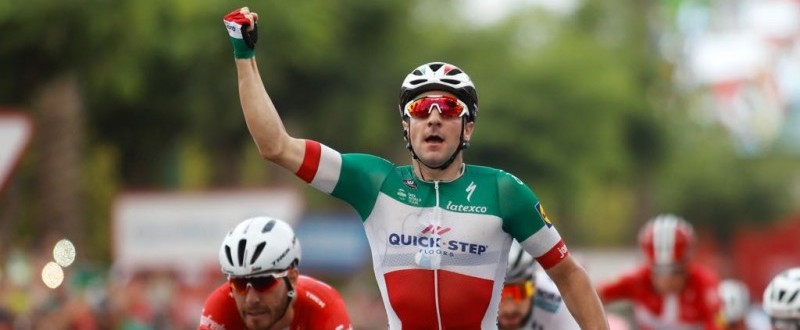 Elia Viviani, del Quick Step, ganador de la tercera etapa de La Vuelta '18. (© Photogomez Sport)