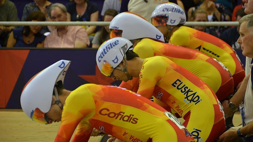 El equipo español de Ciclismo en Pista. Fuente: rfec