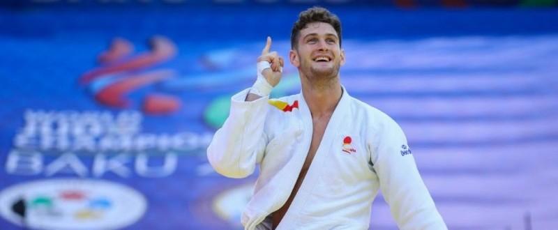 Niko Sherazadishvili, campeón del mundo en Bakú 2018 (Fuente: photo@hajimejudo.com)