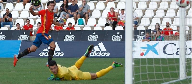 Gol de España ante Albania. Fuente: SeFutbol