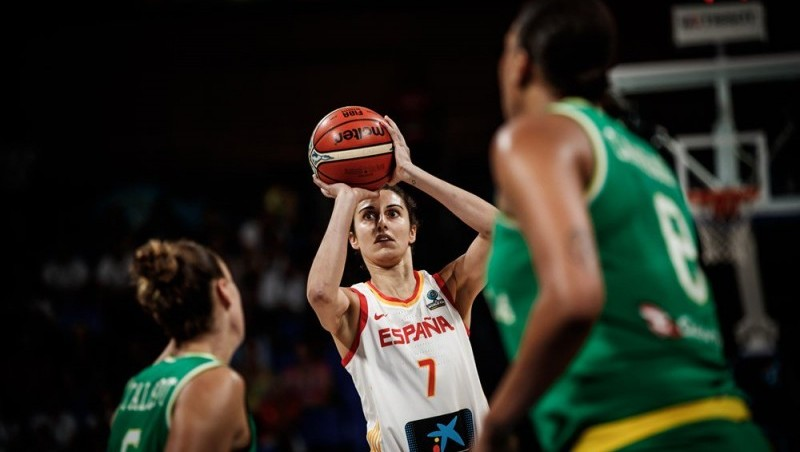 España vs Australia (Alba Torrens), en las semifinales del Mundial de Tenerife 2018. Fuente: FEB