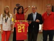 """María José Rienda a el equipo femenino de Hockey Hierba: """"Estamos orgullosos de vuestro trabajo"""""""