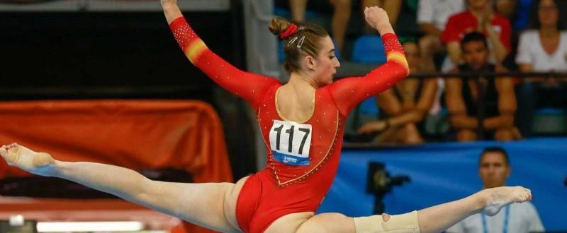 Cintia Rodríguez consiguió las medallas de plata en suelo y barra (Fuente: rtve.es).