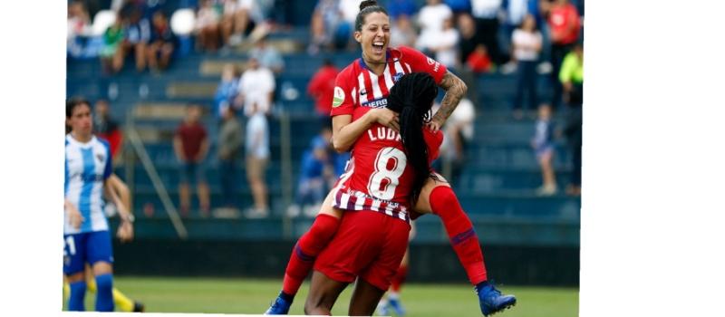 Gol del Atlético de Madrid Femenino ante el Málaga CFF. Fuente: Atlético de Madrid