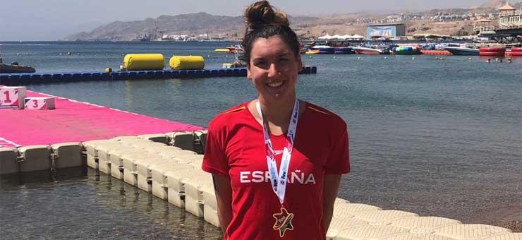 Paula Ruiz, campeona del mundo júnior de aguas abiertas. Fuente: Rfen