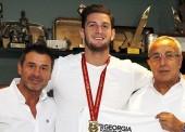Alejandro Blanco recibe al campeón del mundo de judo, Nikoloz Sherazadishvili