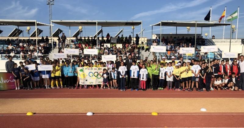 Participantes de la III Olimpiada Escolar 2018. Fuente: Junta de Andalucía