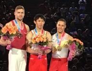 Los gimnastas españoles de artística consiguen tres medallas en París