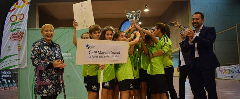 Participantes del centro Manuel Siurot, ganador de la Olimpiada Escolar Andaluza 2018. Fuente: Avance Deportivo