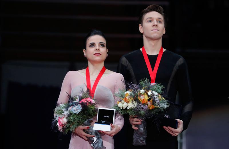Sara Hurtado and Kirill Khaliavin. Fuente: EFE/EPA/SERGEI ILNITSKY
