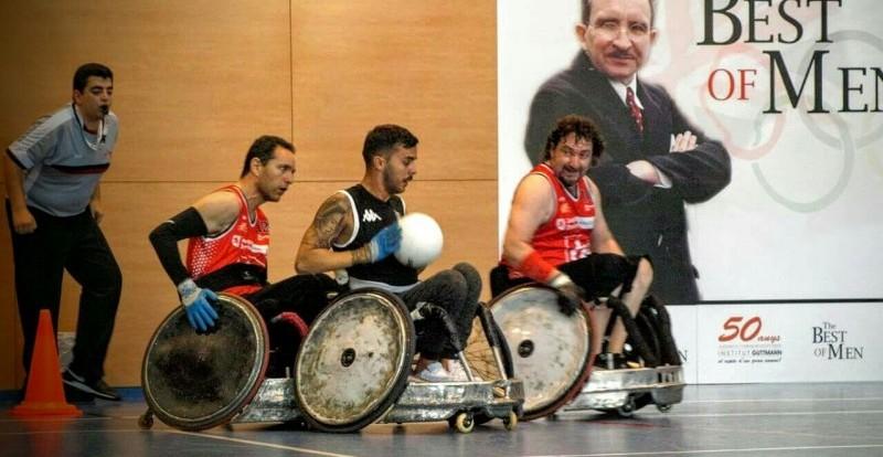 Estreno de la liga nacional de rugby en silla de ruedas. Fuente: CPE