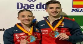 Sergio Galán y Lidia Rodríguez, campeones de Europa de Katas por equipos en Guadalajara