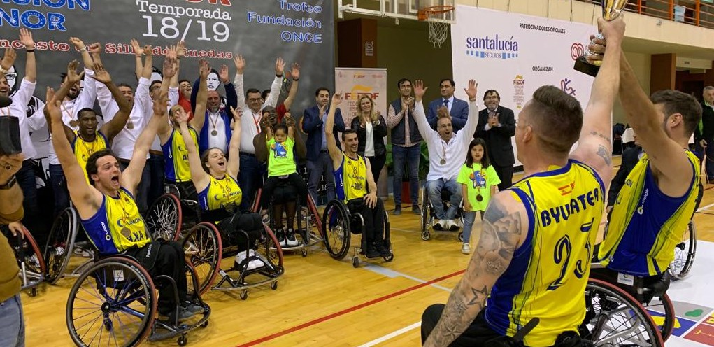 El Ilunion celebra la victoria en la Final Four. Fuente: CD Ilunion