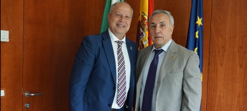 Javier Imbroda y Alejandro Blanco. Fuente: Junta de Andalucía
