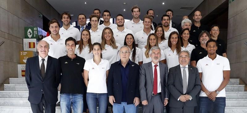 Las selecciones de waterpolo españolas en el COE. Fuente: COE