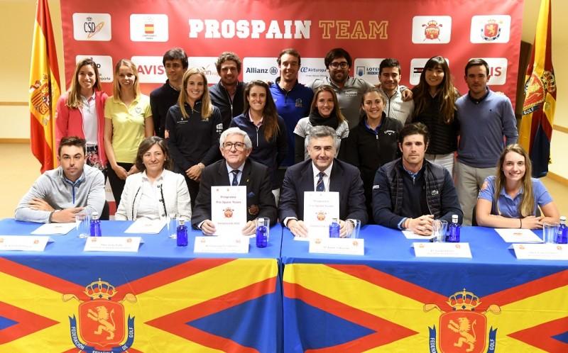 Presentación de la undécima edición del Programa Pro Spain Team. Fuente: Luis Corralo.