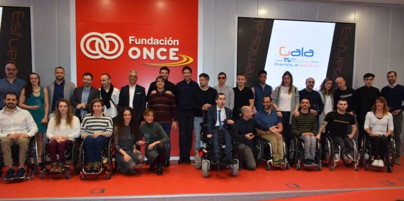 Galardonados en los 'Premios al Esfuerzo' en la Fundación Once de Madrid. Fuente: Avance Deportivo.