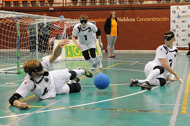 Partido de goalball. Fuente: CPE.