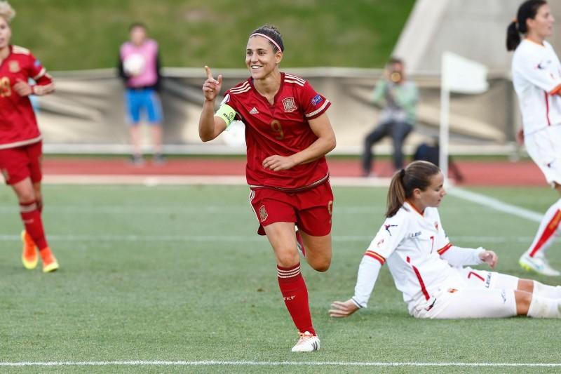 Vero Boquete con la Selección Española. Fuente: Beatriz Sánchez Corsini.