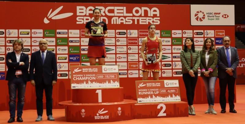 Podio femenino individual del Barcelona Spain Masters 2020. Fuente: Rebeca Guillén.