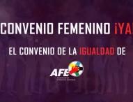 Las futbolistas junto a AFE protestan por el retraso en la firma del convenio colectivo