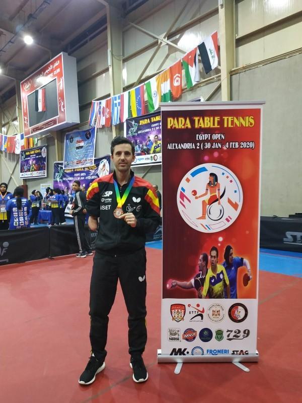 José Manuel Ruiz, medalla de bronce en el Open de Egipto de tenis de mesa. Fuente: José Manuel Ruíz Reyes