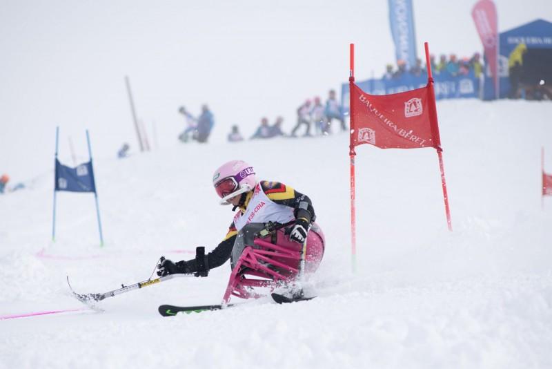 Audrey Pascual, campeona de la Copa de Europa de Esquí Alpino Paralímpico. Fuente: CPE.
