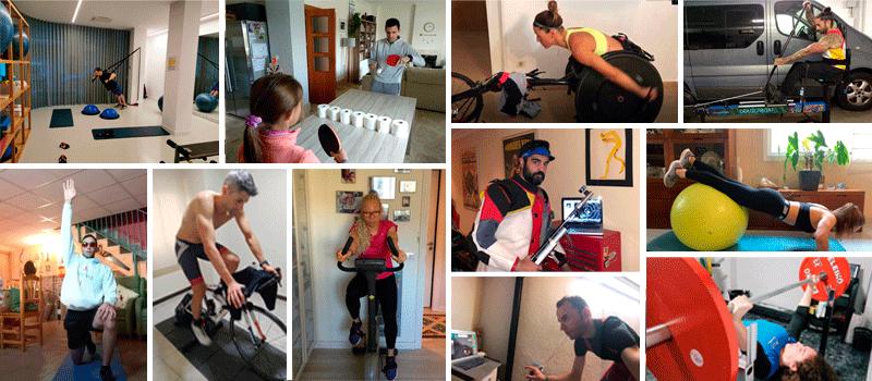 #QuédateEnCasa Paralímpicos y sus gimnasios. Fuente: Avance Deportivo