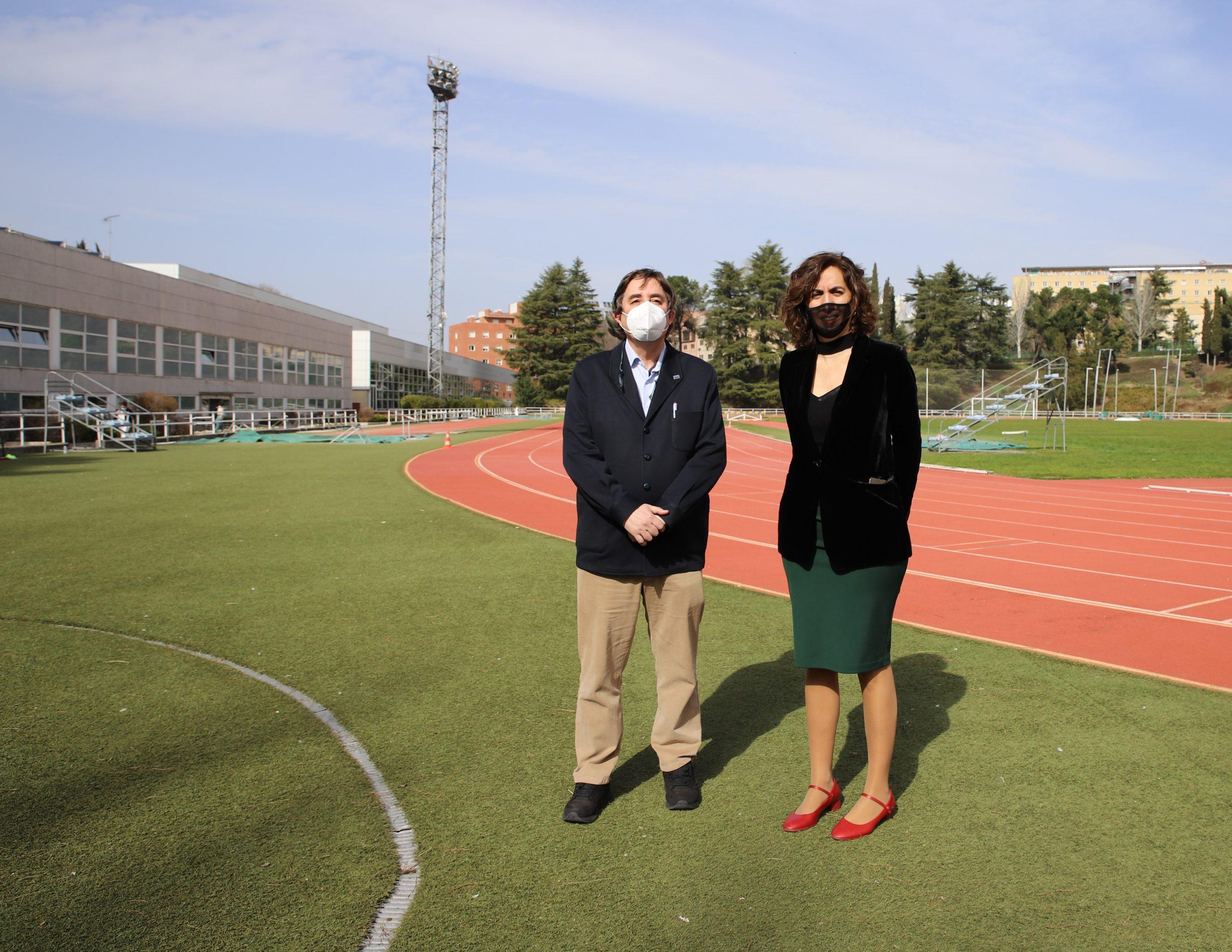 Luis García Montero e Irene Lozano. Fuente: CSD