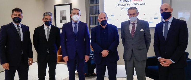José Manuel Franco en los Desayunos de Europa Press. Fuente: CSD