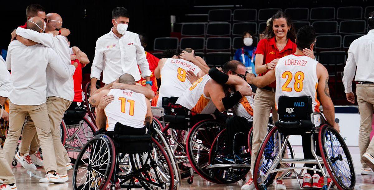 Selección Española Masculina de Baloncesto en Silla. Fuente: CPE