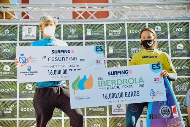 Ariane Ochoa y Néstor García. Fuente: FES