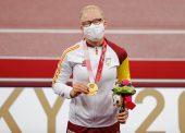 Adi Iglesias, campeona paralímpica en 100 metros lisos