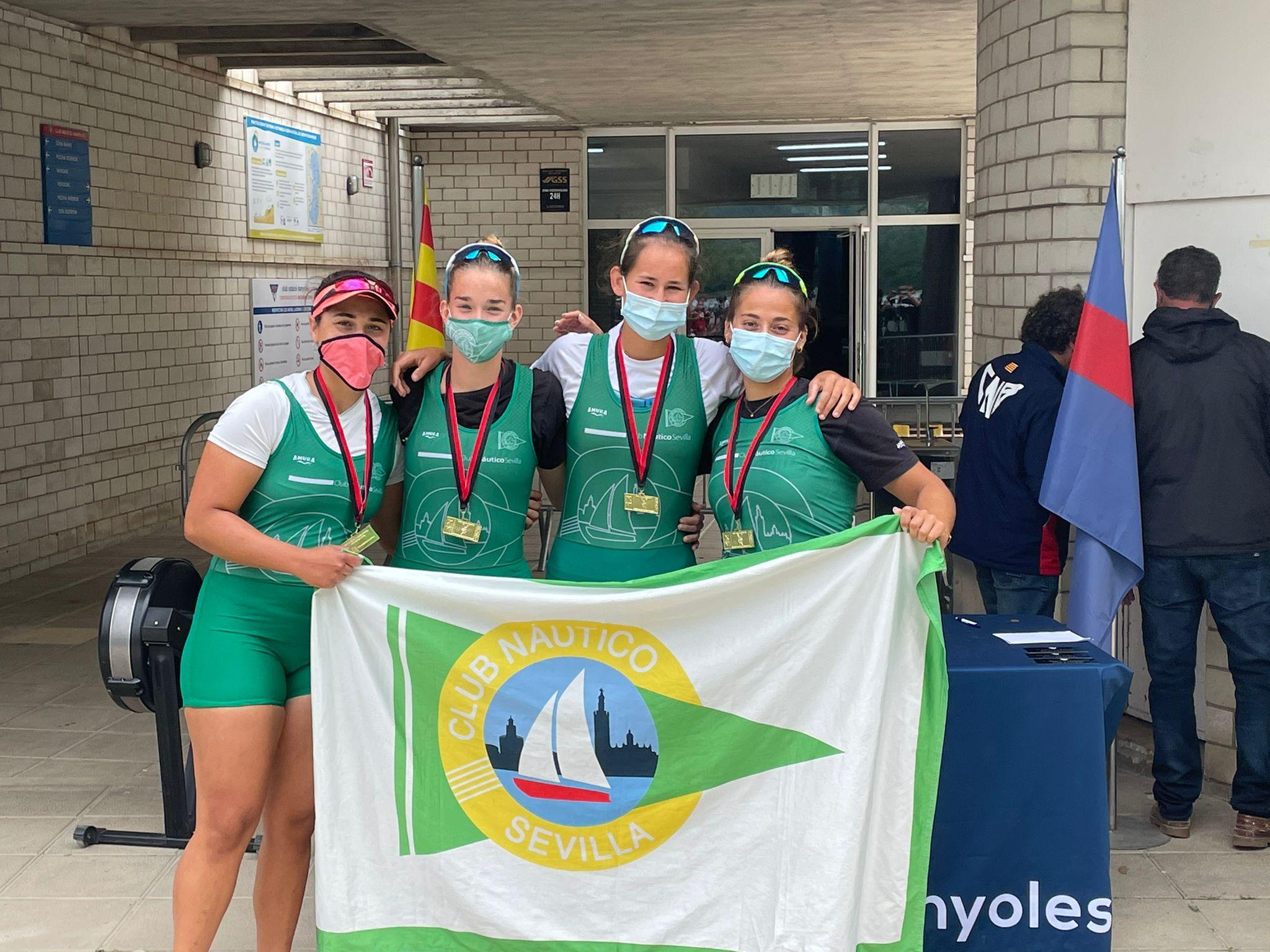 Campeón Club Náutico Sevilla femenino. Fuente: Federación Andaluza de Remo