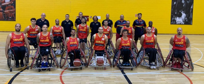 Selección española masculina de baloncesto en silla de ruedas. Fuente: CPE