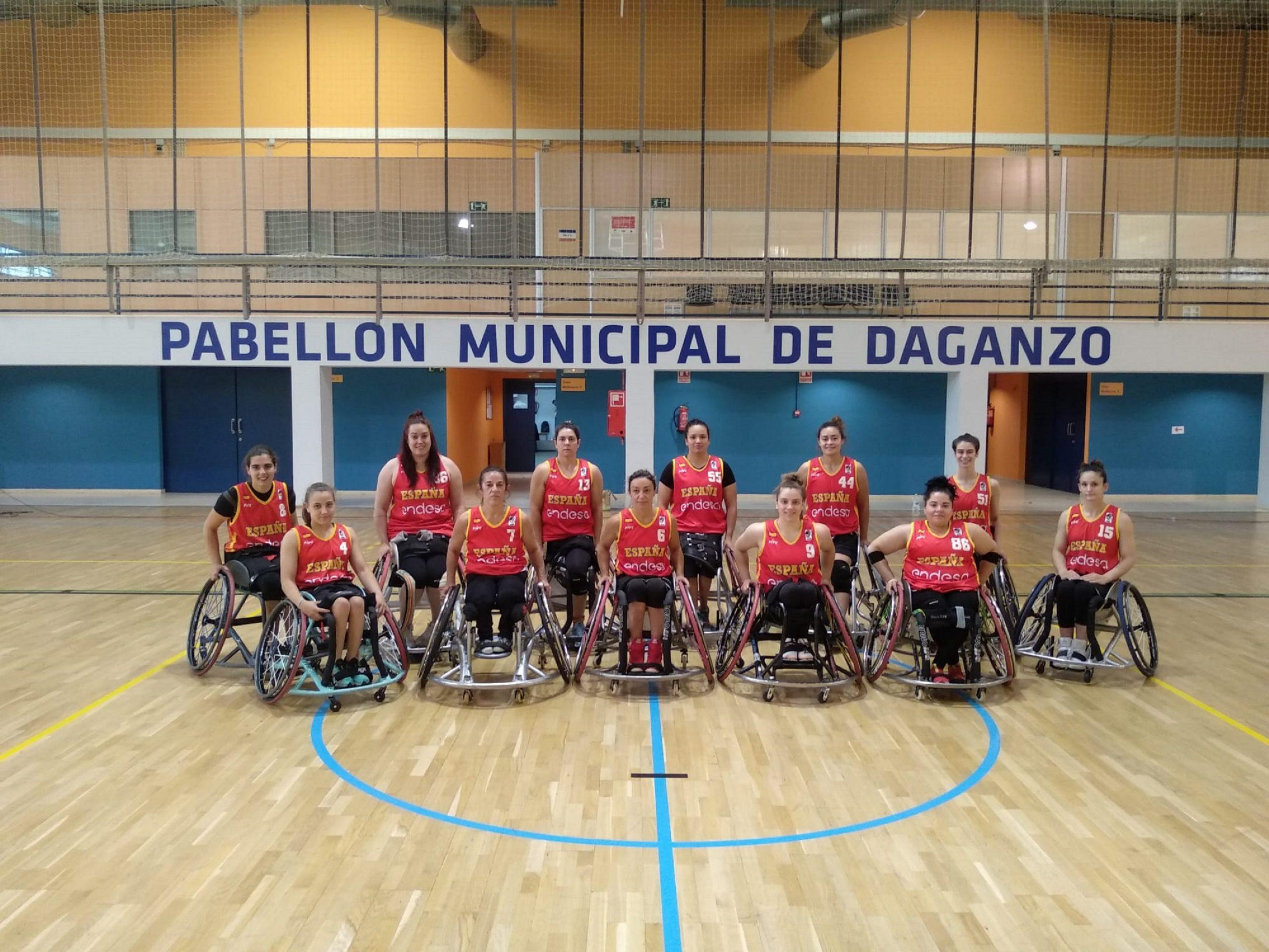 Selección española femenina de baloncesto en silla de ruedas. Fuente: CPE