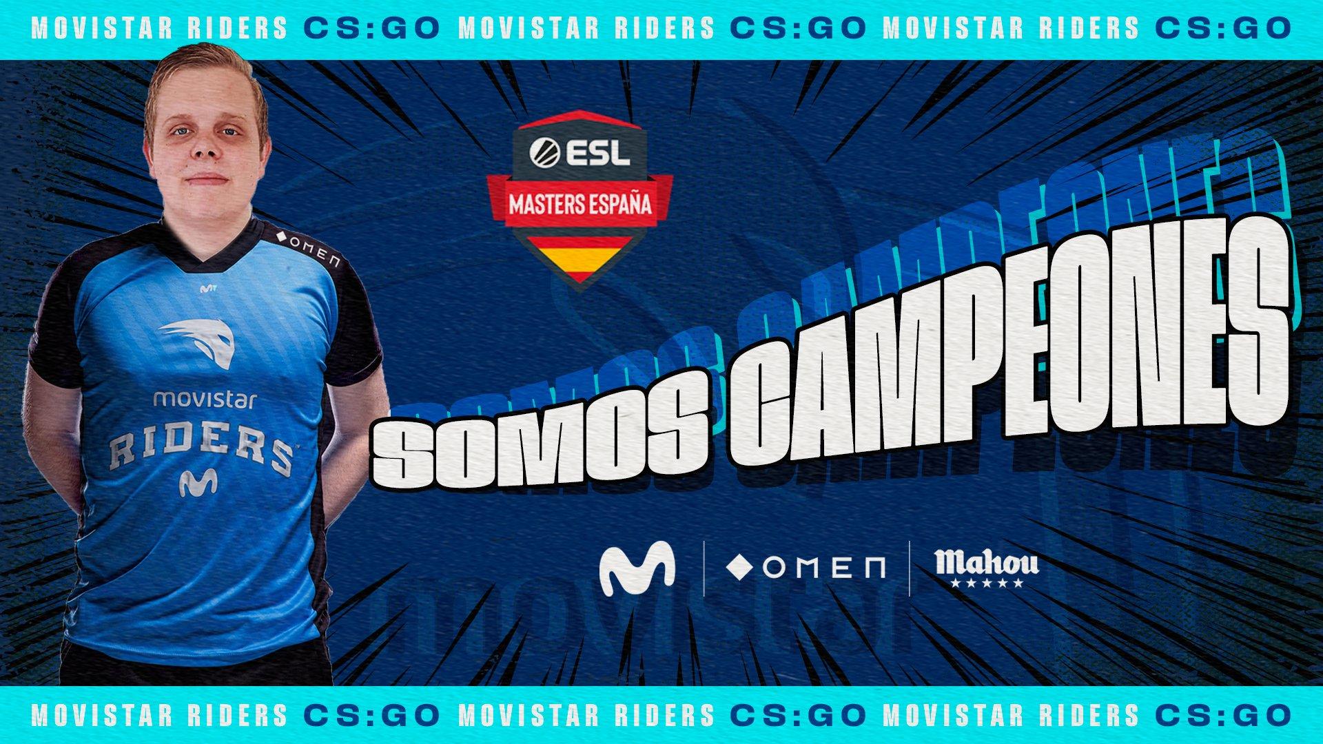 Movistar Riders, campeón de ESL Masters CS:GO