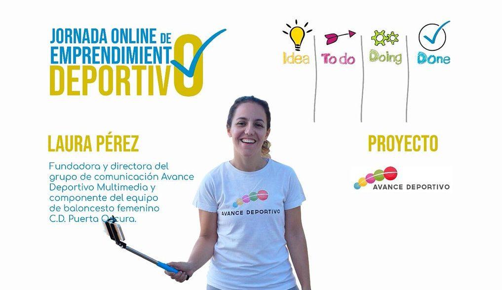 Laura Pérez en Emprendimiento y Deporte. Fuente: Sincrobox