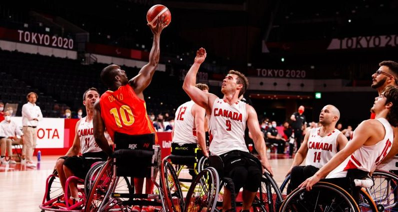 Selección española masculina de baloncesto en silla en Tokio. Fuente: CPE