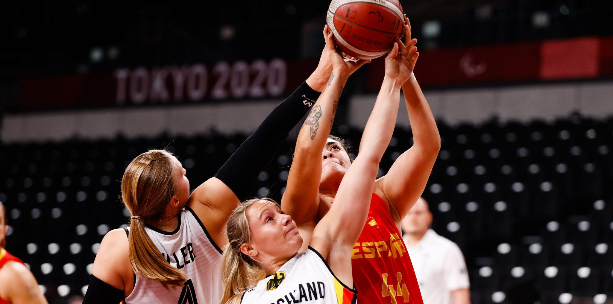 La selección española de baloncesto femenino en silla. Fuente: Mikael Helsing / CPE.
