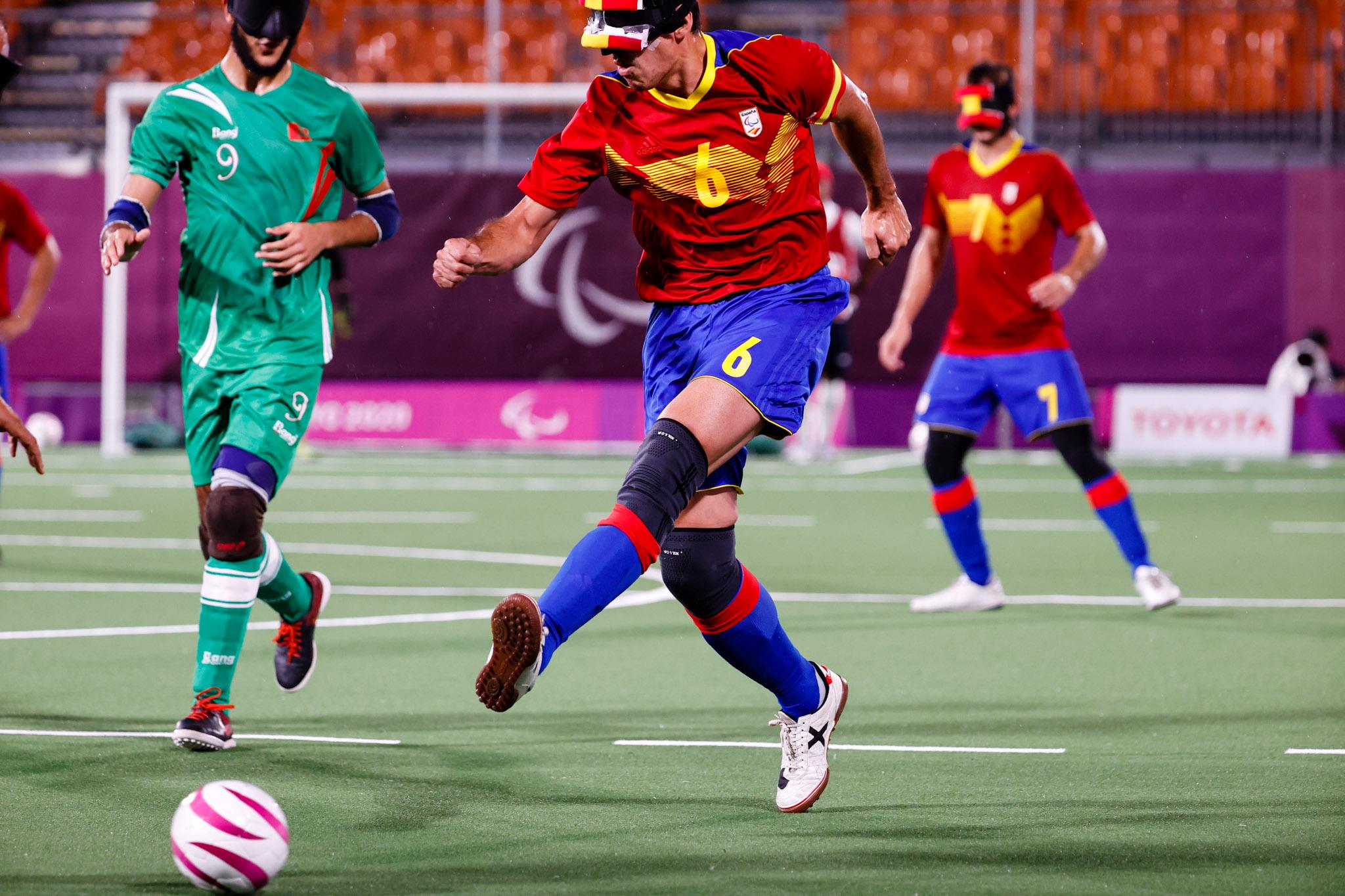 La selección española de fútbol 5. Fuente: Mikael Helsing / CPE.