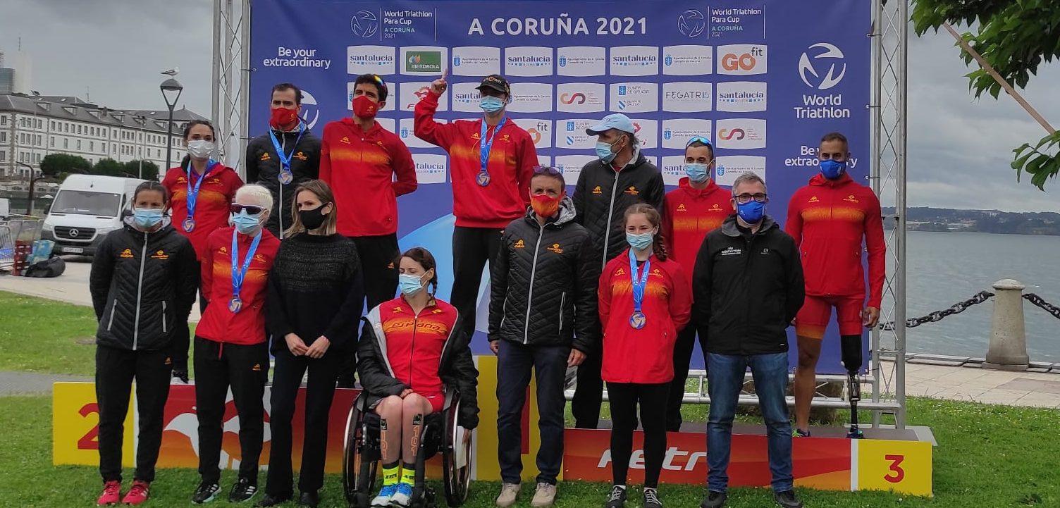 Paratriatletas medallistas españoles. Fuente: CPE