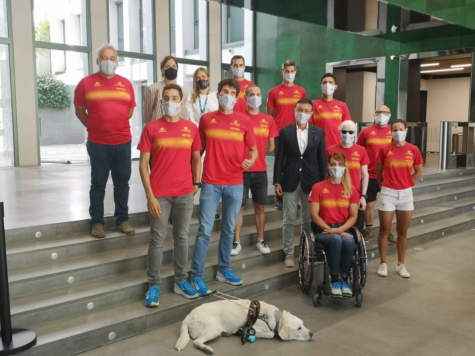Triatletas españoles seleccionados para Tokio. Fuente: CPE